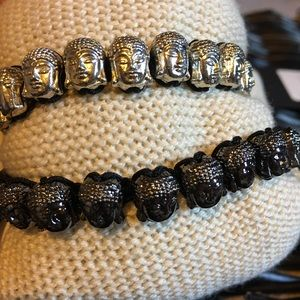 Jean Claude Buddha Charm Bracelet NWT Black